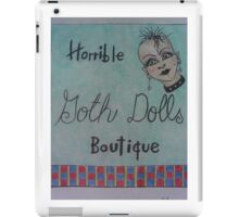 horrible goth dolls boutique iPad Case/Skin