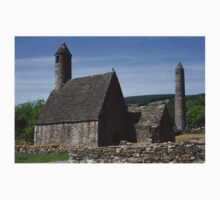 St Kevins Church And Round Tower Kids Tee