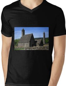 St Kevins Church And Round Tower Mens V-Neck T-Shirt