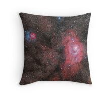 Lagoon and Trifid Nebula Throw Pillow