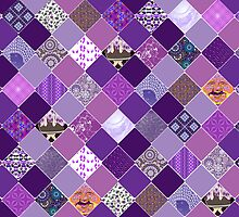 Purple Communal Quilt for I ♥ Patterns by I ♥ Patterns