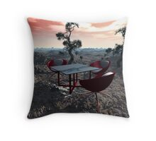 Strange Place for a Meeting Throw Pillow