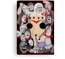Friday the 13th collage Canvas Print