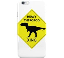 Heavy Theropod Xing Sign iPhone Case/Skin