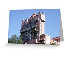 The Twilight Zone Tower of Terror Greeting Card