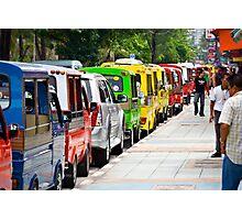 Tuk-tuk queue Photographic Print