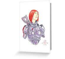 Mass Effect Commander Shepard FemShep Fan Art Bust Greeting Card