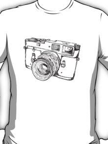 Rangefinder Style Camera Drawing T-Shirt