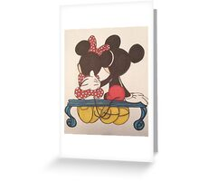 Mickey and Minnie Greeting Card