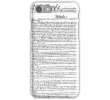 Constitution iPhone Case/Skin