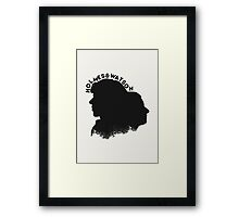 Holmes and Watson Framed Print