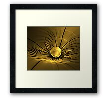 Fracturing the Fabric of Space Framed Print