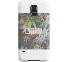 Caspar Lee Pineapple Quote Samsung Galaxy Case/Skin