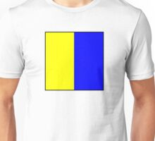 International maritime signal flags sea alphabet collection letter k Unisex T-Shirt