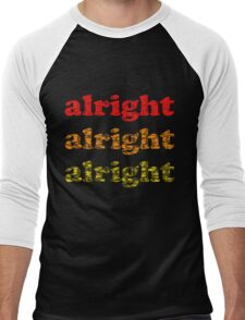 Alright Alright Alright - Matthew McConaughey : Black Men's Baseball ¾ T-Shirt