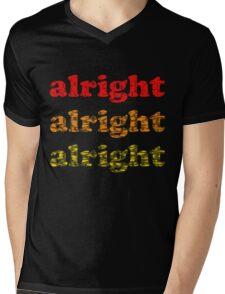 Alright Alright Alright - Matthew McConaughey : Black Mens V-Neck T-Shirt