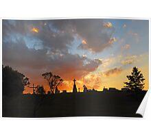 Sunset over Camden Cemetary Poster