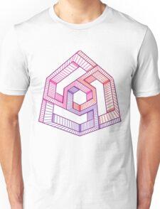 Perspective illusion cube, colour Unisex T-Shirt