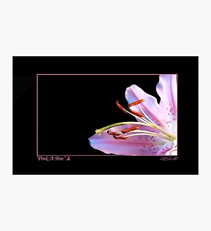 Pink a Boo - For Breast Cancer Survivors Photographic Print