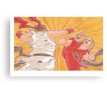 Ken vs. Ryu Canvas Print