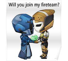 Valentine's: Fireteam Poster