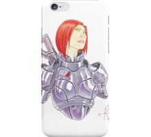 Mass Effect Commander Shepard FemShep Fan Art Bust iPhone Case/Skin