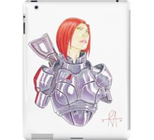 Mass Effect Commander Shepard FemShep Fan Art Bust iPad Case/Skin