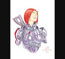 Mass Effect Commander Shepard FemShep Fan Art Bust Unisex T-Shirt