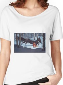 Little Red Riding Hood and the Wolf Women's Relaxed Fit T-Shirt