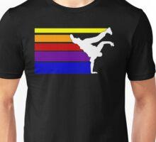 BBOY lines rainbow Unisex T-Shirt