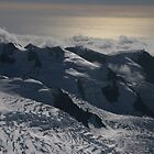 late afternoon view of Glaciers on mount cook by nymphalid