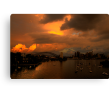 Something Wicked This Way Comes - Moods Of A City # 30 - Sydney , Australia Canvas Print
