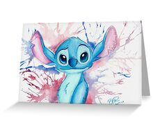 A blast of Stitch Greeting Card
