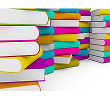 multiple colorful books stack Photographic Print