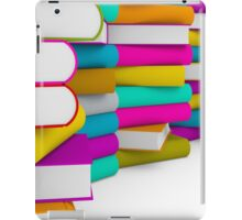 multiple colorful books stack iPad Case/Skin