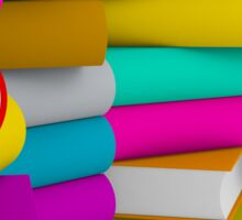 multiple colorful books stack Sticker