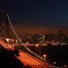 Bay Bridge at night 2 by Johan Lindstrom