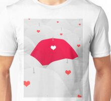 heart shape on umbrella Unisex T-Shirt