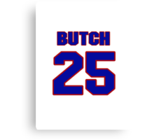 National baseball player Butch Wensloff jersey 25 Canvas Print