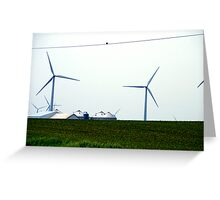 Farming the Wind 3 Greeting Card