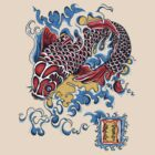 Koi t-shirt by Angelique Moselle Price