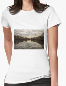 Mirrored Pond Womens Fitted T-Shirt
