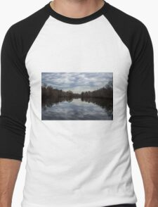 Mirrored Pond Men's Baseball ¾ T-Shirt