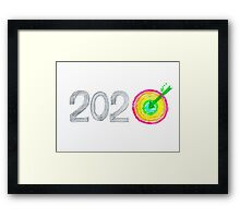 Conceptual image of Year 2020 Framed Print