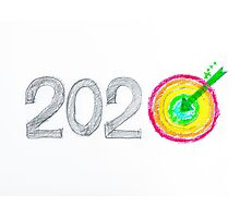 Conceptual image of Year 2020 Photographic Print