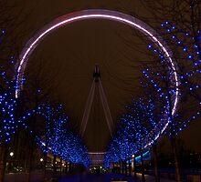 London Eye at night by Johan Lindstrom