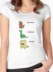 dinosaurs Women's Fitted Scoop T-Shirt
