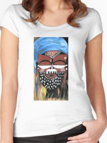 Ngady aMwaash Mask  Women's Fitted Scoop T-Shirt