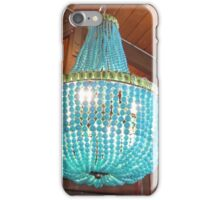 Turquoise chandelier from Roger's Gardens iPhone Case/Skin