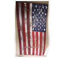USA Flag - State Pallets Poster